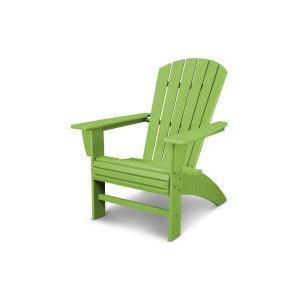Polywood Furnishings - Nautical Curveback Adirondack Chair in Vintage Lime