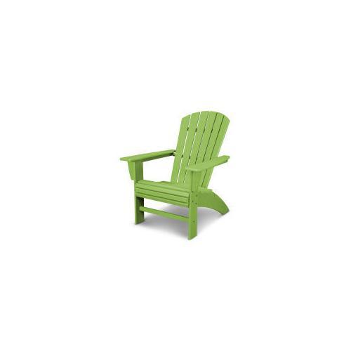 Nautical Curveback Adirondack Chair in Vintage Lime