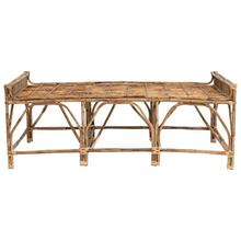 """See Details - 57""""W x 27-1/2""""D x 21-1/2""""H Natural Cane Day Bed/Bench"""