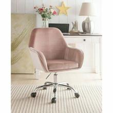 ACME Eimer Office Chair - 92504 - Peach Velvet & Chrome