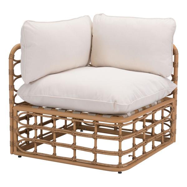 See Details - Kapalua Corner Chair Beige & Natural