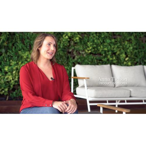 Faye Navy Cover Aroba Outdoor Bench