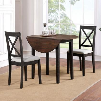 See Details - Veneta 3 Pc. Dining Table Set