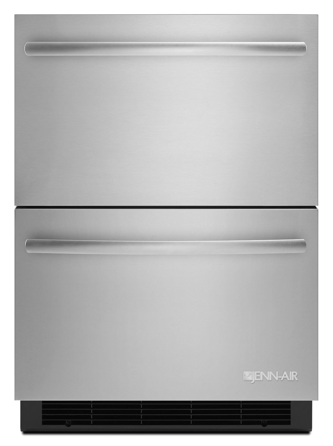 """JennairEuro-Style 24"""" Double-Refrigerator Drawers Stainless Steel"""