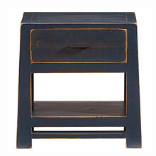 See Details - Nightstand - Navy Blue Finish