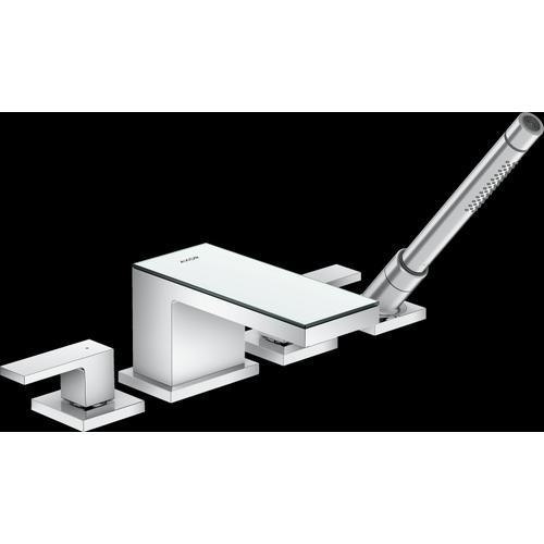 AXOR - Chrome / Mirror Glass 4-Hole Roman Tub Set Trim with 1.75 GPM Handshower