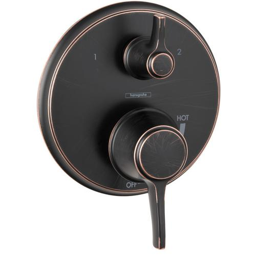 Rubbed Bronze Pressure Balance Trim with Diverter, Round