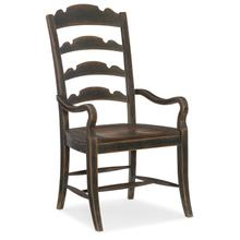 View Product - Hill Country Twin Sisters Ladderback Arm Chair - 2 per carton/price ea
