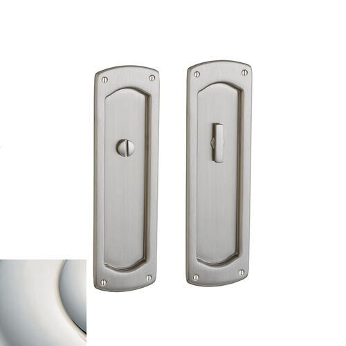 Baldwin - Polished Nickel with Lifetime Finish PD007 Palo Alto Pocket Door