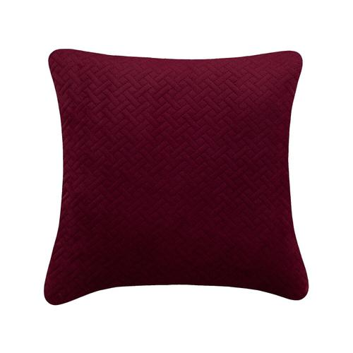 Quiltee Cushion - Burgundy / 100% Polyester