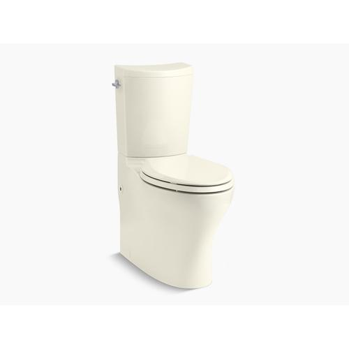 Biscuit Two-piece Elongated Dual-flush Chair Height Toilet