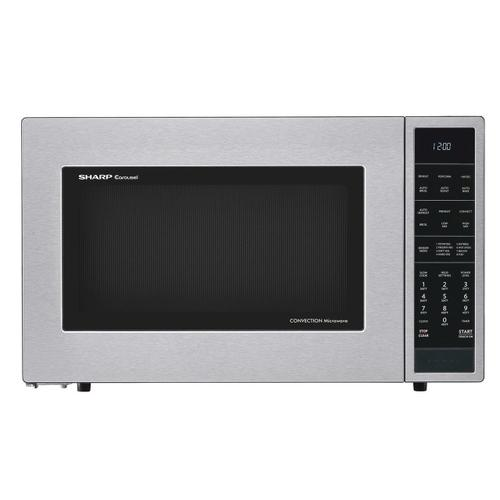1.5 cu. ft. 900W Sharp Stainless Steel Carousel Convection + Microwave Oven
