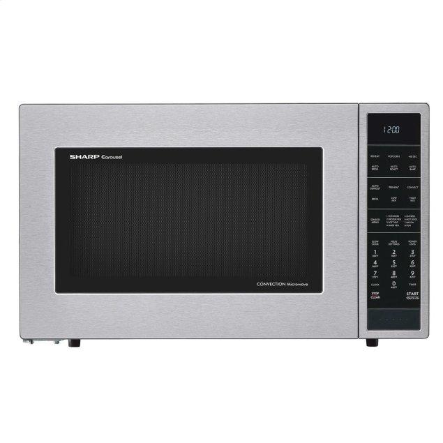 Sharp Appliances 1.5 cu. ft. 900W Sharp Stainless Steel Carousel Convection + Microwave Oven