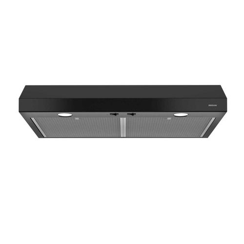 Glacier 30-Inch 250 CFM Black Range Hood with light