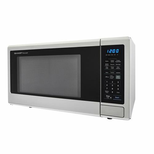 Sharp - 1.8 cu. ft. 1100W Sharp Stainless Steel Countertop Microwave Oven