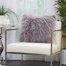 "Faux Fur Bj101 Lavender 20"" X 20"" Throw Pillow"