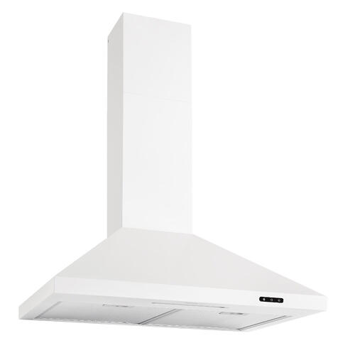 30-In. Convertible Wall Mount Chimney Range Hood with LED Light in White **Coming Soon**