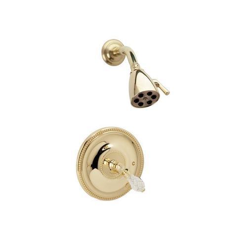 REGENT CUT CRYSTAL Pressure Balance Shower Set PB3181 - Satin Gold with Satin Nickel