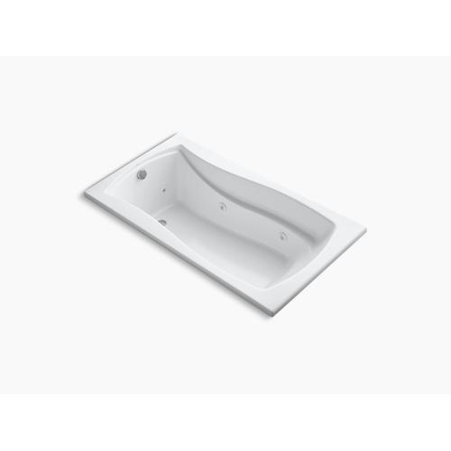 "Biscuit 66"" X 36"" Drop-in Whirlpool Bath With Bask Heated Surface and Reversible Drain"