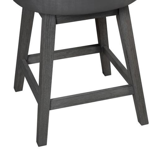 Rosabella Wood Swivel Counter Height Stool, Wirebrush Gray