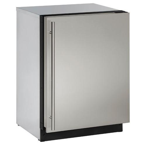 "2224r 24"" Refrigerator With Stainless Solid Finish and Field Reversible Door Swing (115 V/60 Hz Volts /60 Hz Hz)"