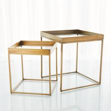 See Details - S/2 Perfect Nesting Tables-Antique Brass