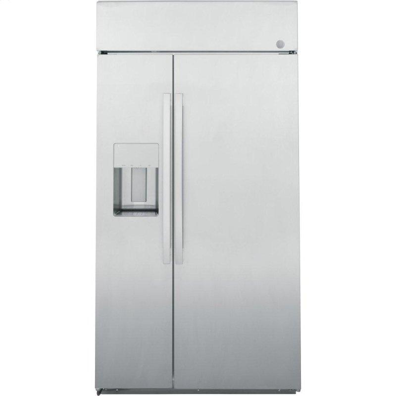 "GE Profile™ Series 42"" Smart Built-In Side-by-Side Refrigerator with Dispenser"