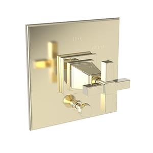 French Gold - PVD Balanced Pressure Tub & Shower Diverter Plate with Handle