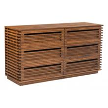Linea Double Dresser Walnut