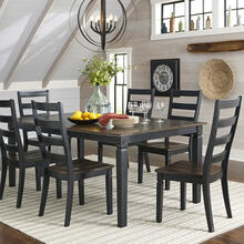 5 Piece Set (Dining Table and 4 Side Chairs) *Extra Chairs Available to Order*