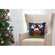 "Home for the Holiday Yx090 Multicolor 18"" X 18"" Throw Pillow"