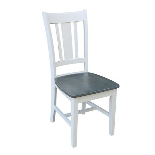 San Remo Chair in White Grey