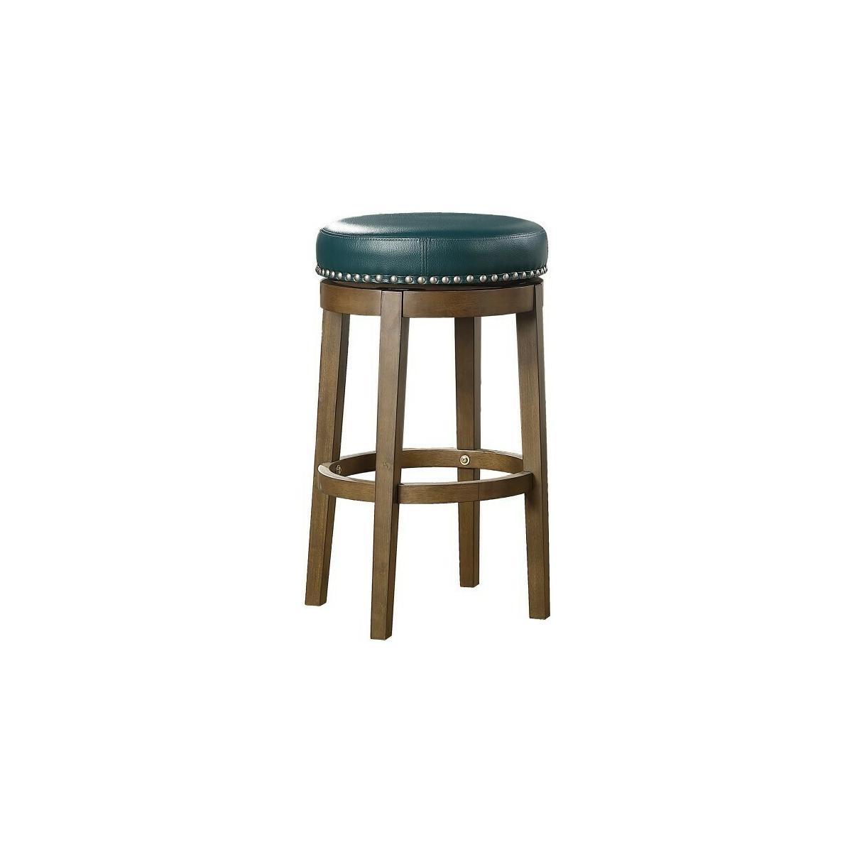Round Swivel Pub Height Stool, Green