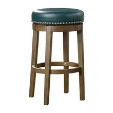 Round Swivel Pub Height Stool, Green