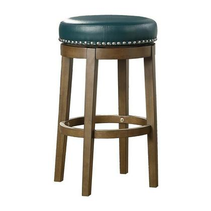 See Details - Round Swivel Pub Height Stool, Green