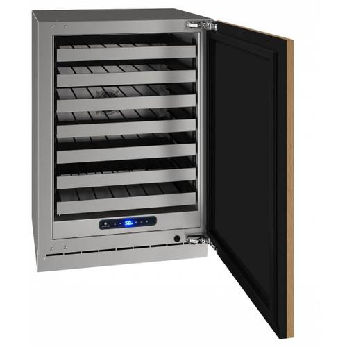 """U-Line - Hwc524 24"""" Wine Refrigerator With Integrated Solid Finish and Field Reversible Door Swing (115 V/60 Hz Volts /60 Hz Hz)"""