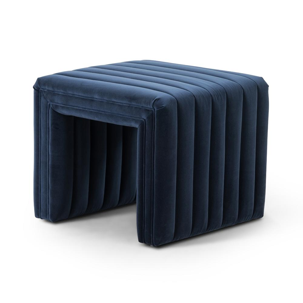 """Sapphire Navy Cover Augustine Ottoman-21"""""""