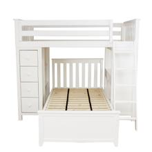 See Details - All in One Loft Bed Storage Study + Twin Bed White