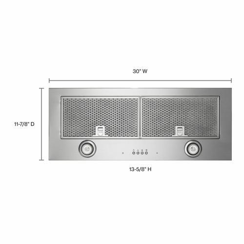 "KitchenAid - 30"" 400 CFM Motor Class Custom Hood Liner - Stainless Steel"