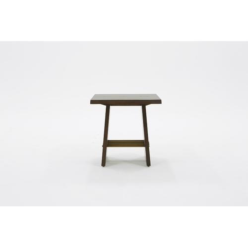 VIG Furniture - Modrest Selena Modern Acacia & Brass End Table