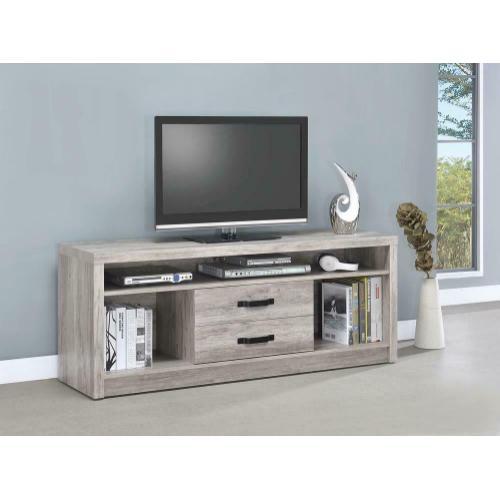 Modern Grey Driftwood TV Console
