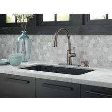 Black Stainless Single Handle Pull-Down Kitchen Faucet with Soap Dispenser and ShieldSpray ® Technology