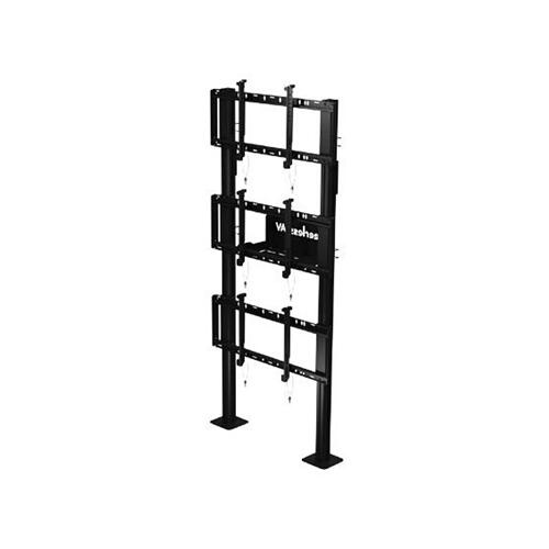 """SmartMount ® Modular Video Wall Pedestal Mount 1x3 Configuration for 46"""" to 60"""" Displays"""