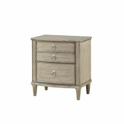 ACME Wynsor Nightstand - 27533 - Antique Champagne
