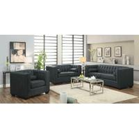 Cairns Transitional Charcoal Loveseat Product Image