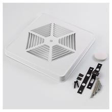 "Grille Kit, White Painted Steel for 8"" fan units without switch hole"