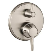 Brushed Nickel Thermostatic Trim with Volume Control, Round