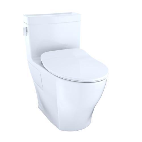 Legato One-Piece Toilet, 1.28GPF, Elongated Bowl - Washlet®+ Connection - Slim Seat - Cotton