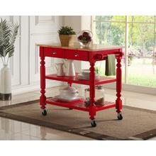 See Details - Payson Red Kitchen Cart