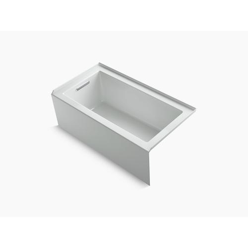 """Ice Grey 60"""" X 32"""" Alcove Bath With Integral Apron, Integral Flange and Left-hand Drain"""